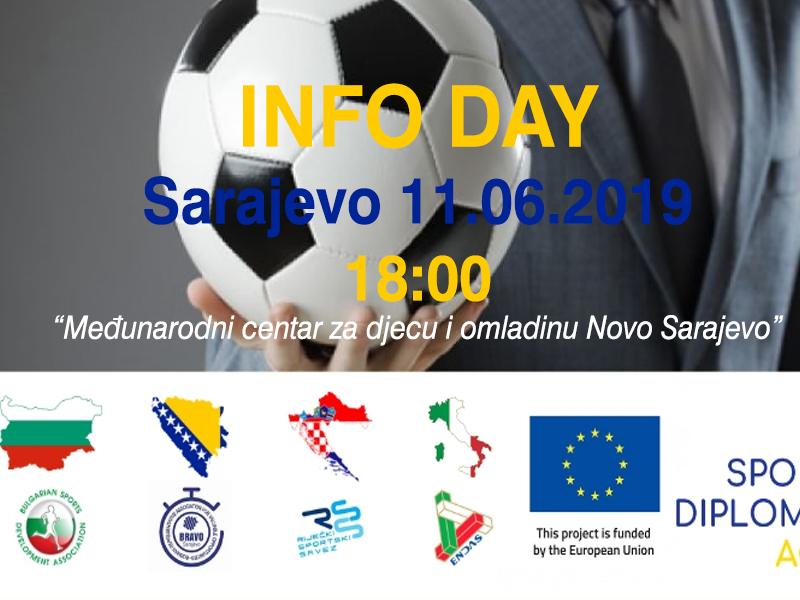 """INFO DAY """"Sport Diplomacy Academy"""" – Sarajevo 11.06.2019. at 18:00"""