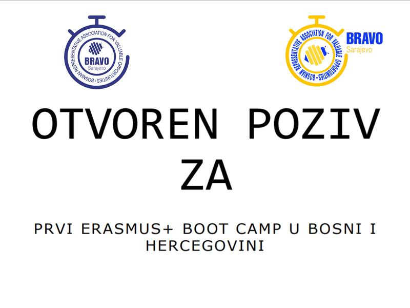 OTVOREN POZIV ZA PRVI ERASMUS+ BOOT CAMP U BOSNI I HERCEGOVINI
