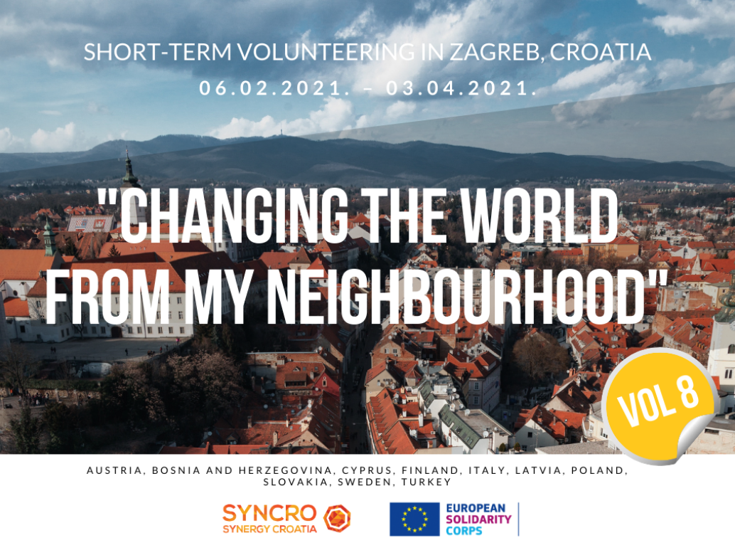 OPEN CALL FOR 1 VOLUNTEER for 2 MONTHS ESC/EVS in ZAGREB, CROATIA