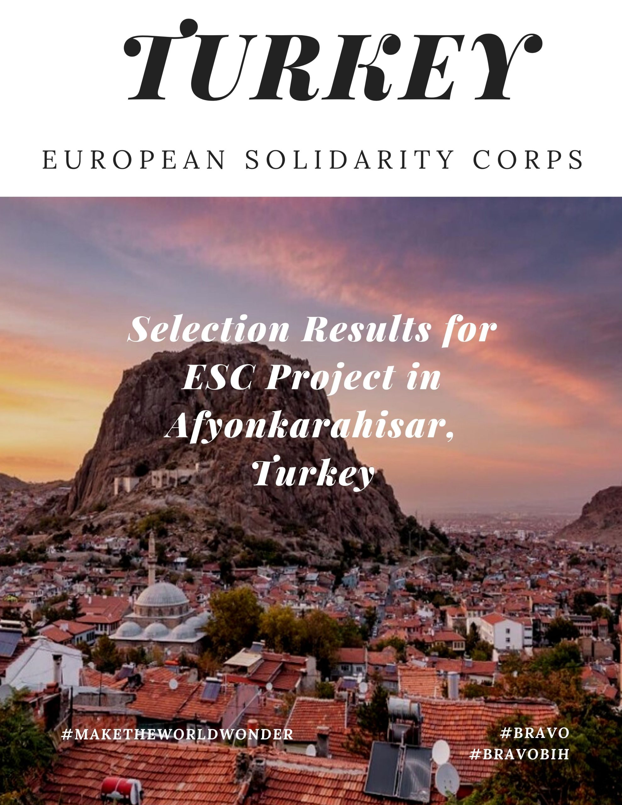 Selection Result for ESC Project in Afyonkarahisar, Turkey