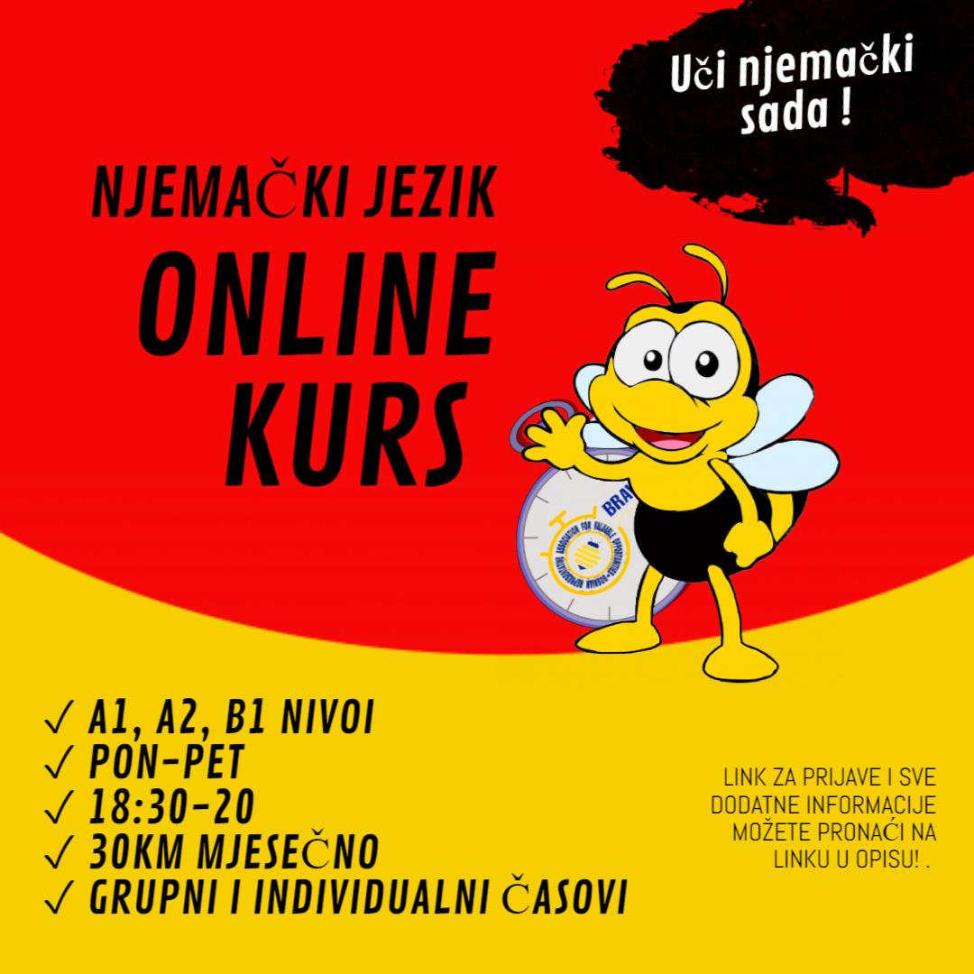 """BRAVO"" Online kurs NJEMAČKOG JEZIKA"