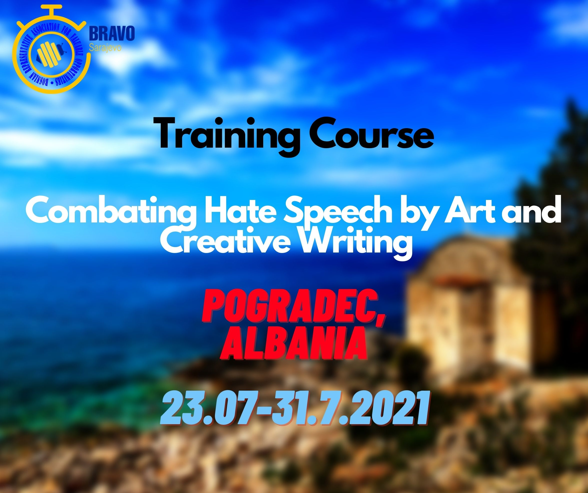 Open Call for 5 Participants from Bosnia and Herzegovina for Training Course in Pogradec, Albania