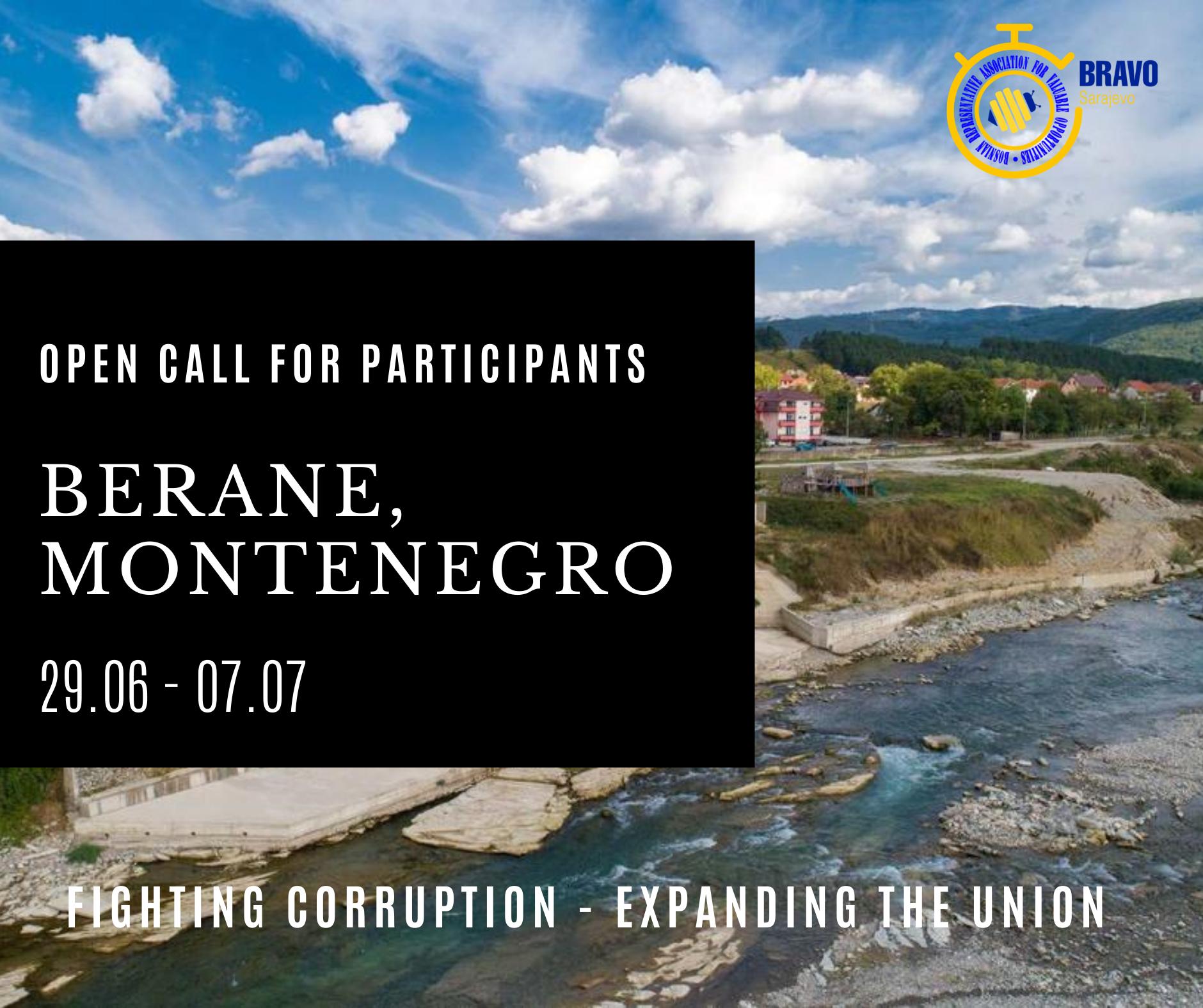 Open Call for 5 participants – Berane, Montenegro