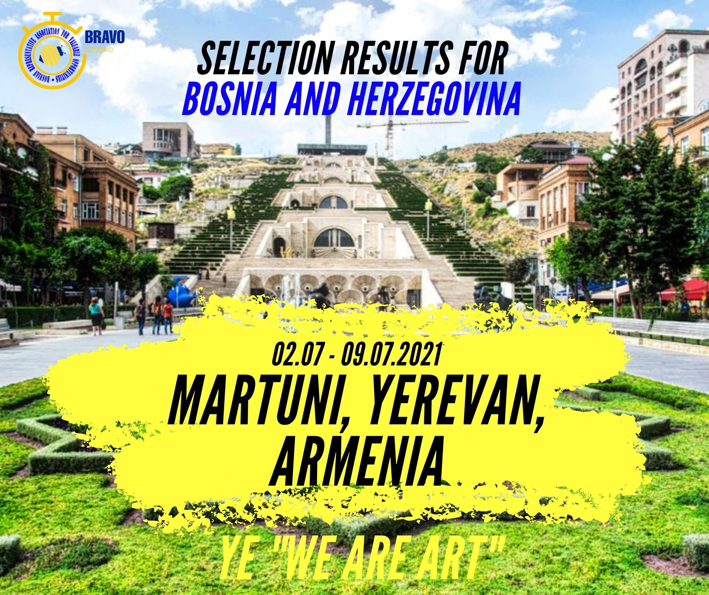 "Results for YE ""We Are Art"" In Yerevan, Armenia"