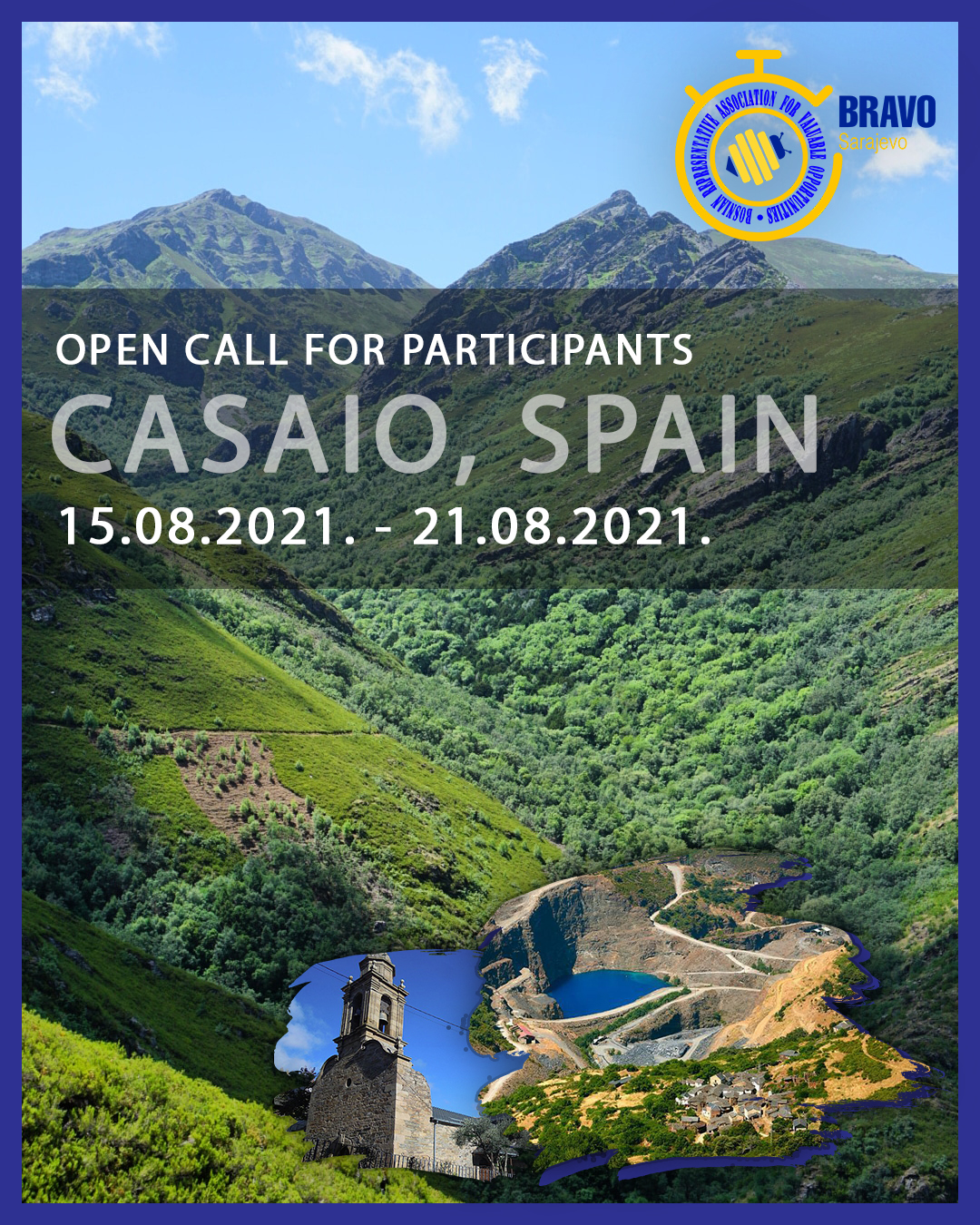 Open Call for 5 Participants from Bosnia and Herzegovina for Youth Exchange in Casaio, Spain