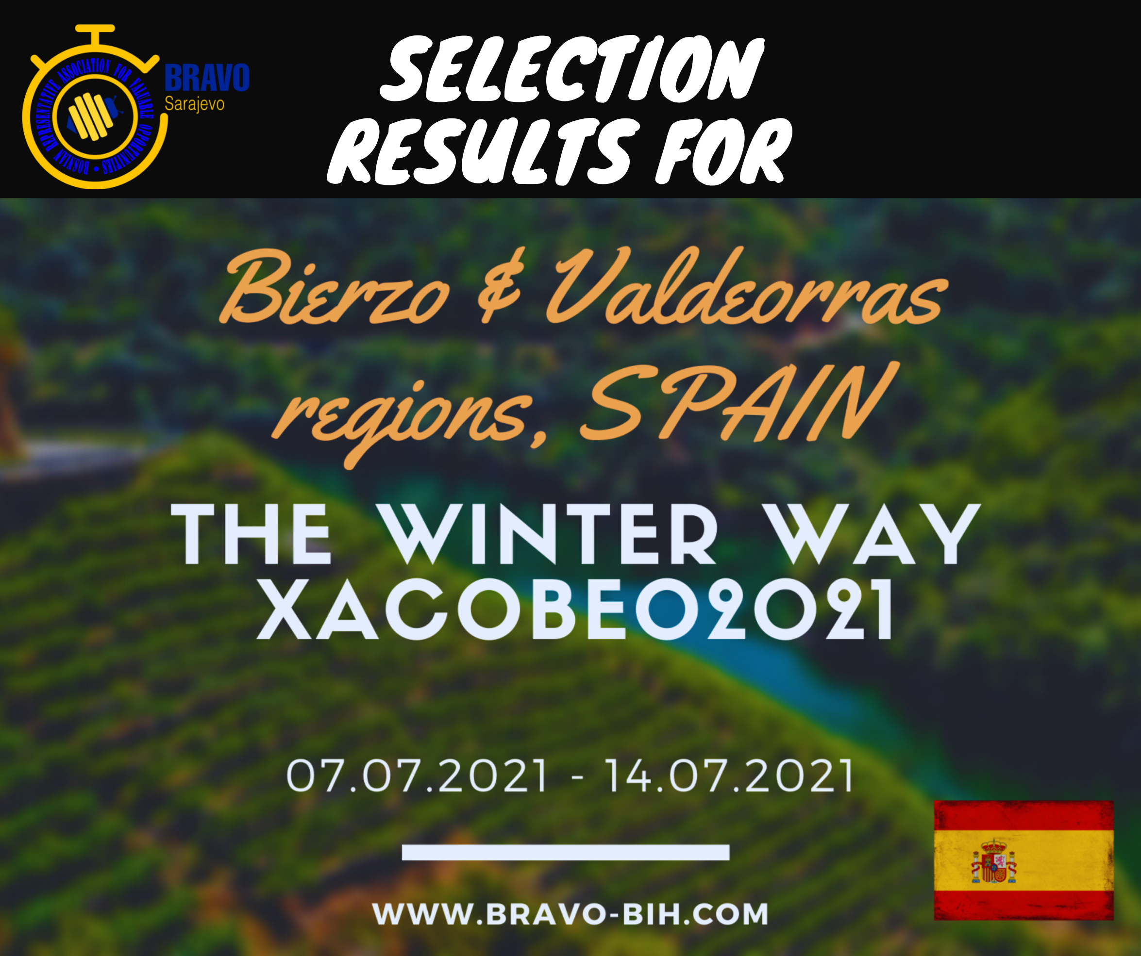 """Selection Results for 5 Participants from Bosnia and Herzegovina for Youth Exchange in Italy, """" The Winter Way Xacobeo 2021"""""""