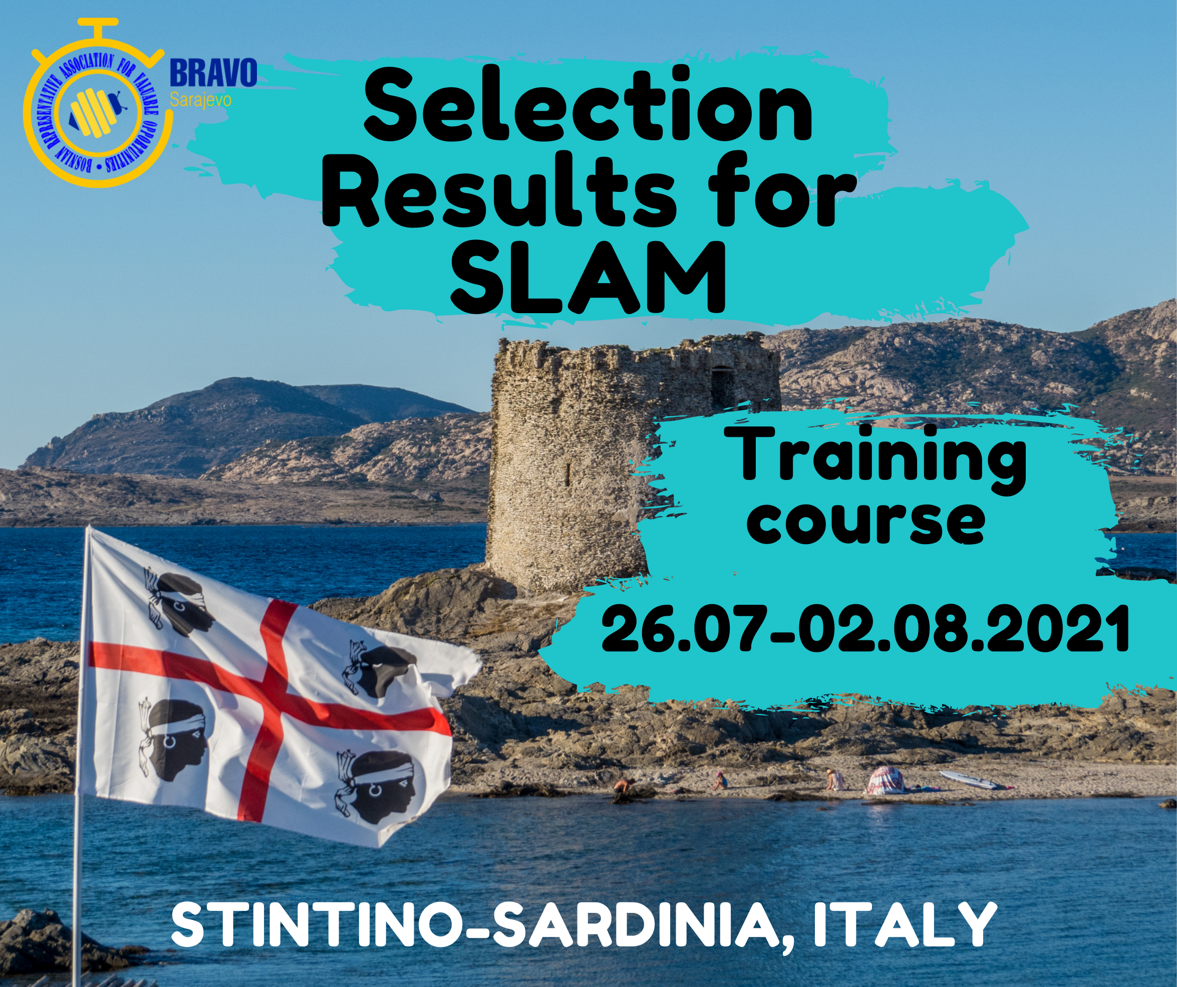 Selection Results for training course in Italy – SLAM
