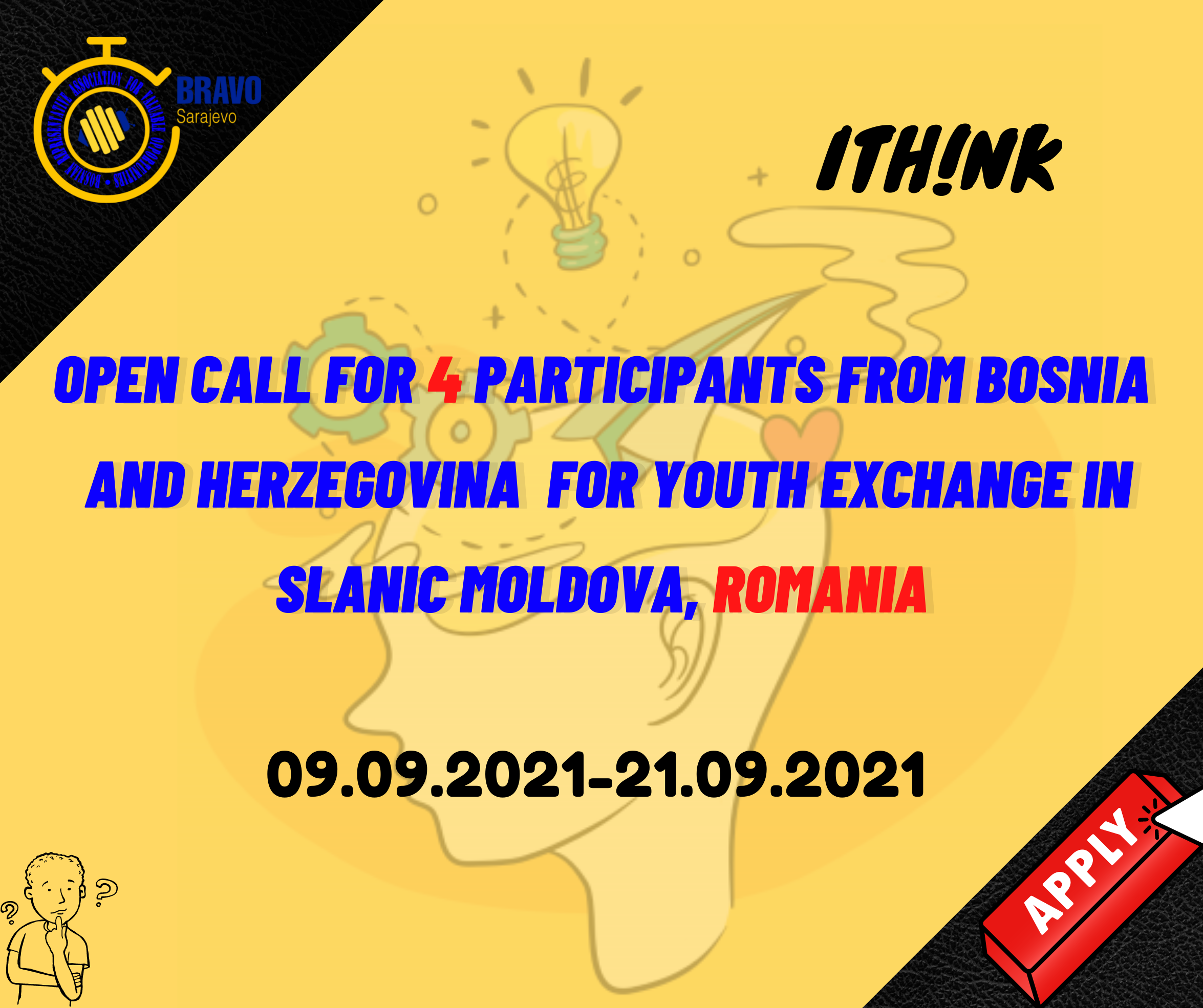 Open Call for 4 Participants from Bosnia and Herzegovina for Youth Exchange in Slanic Moldova, Romania